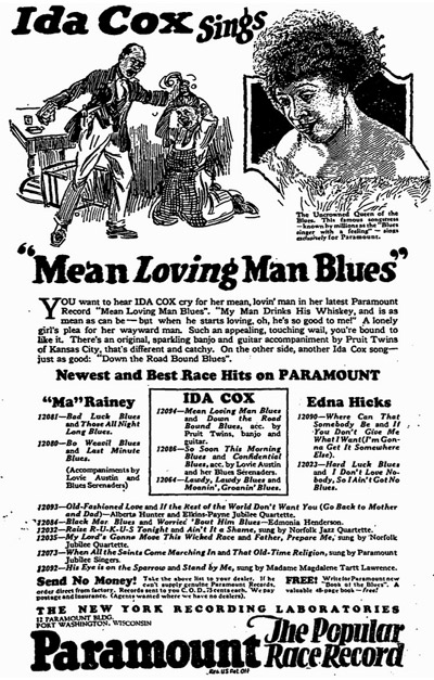 Ida Cox Mean Loving Man Blues