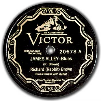 Richard Rabbit Brown: James Alley Blues