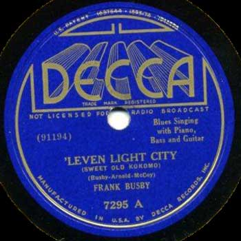 "Frank Busby"" 'Leven Light City"