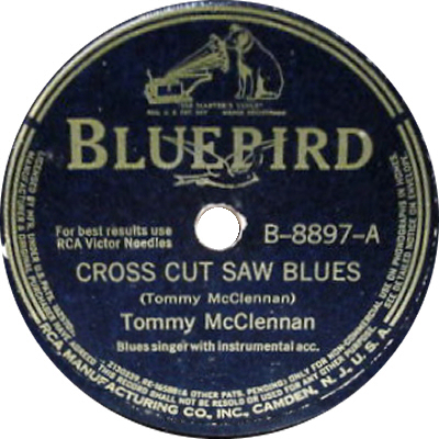 Tommy McClennan: Cross Cut Saw Blues