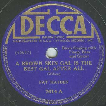 Fats Hayden: Brown Skin Gal Is The Best Gal After All