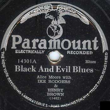 Alice Moore: Black And Evil Blues